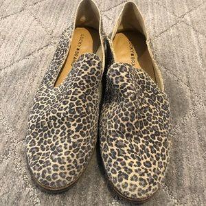 Like New- Lucky Brand Womens sz 8, leopard suede